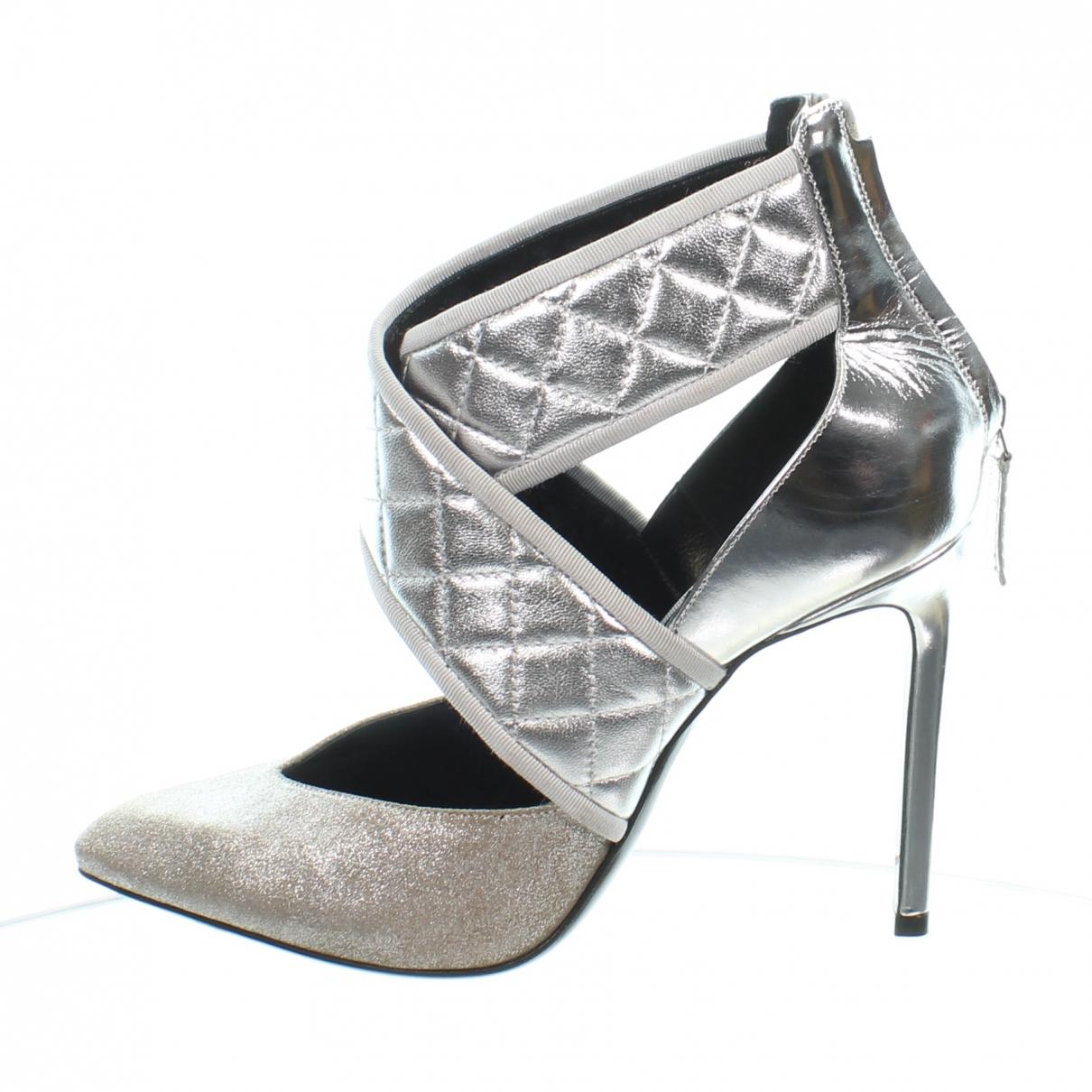Lanvin \N Silver Leather Heels for Women 39 EU