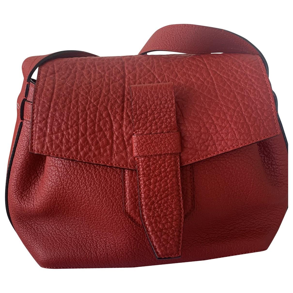 Lancel Charlie Handtasche in  Rot Leder