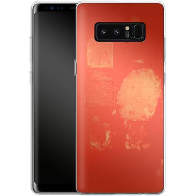 Samsung Galaxy Note 8 Silikon Handyhuelle - Red Block Background von Brent Williams