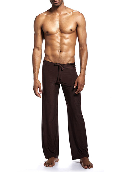 Yoins Men Slippery Loose Breathable Cool Home Pants