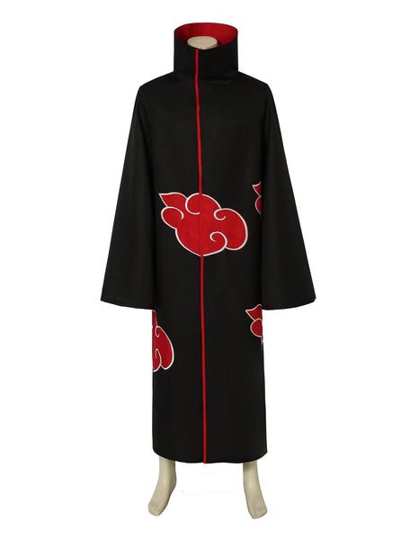 Milanoo Naruto Akatsuki Cloak Uchiha Itachi Disfraz de Cosplay
