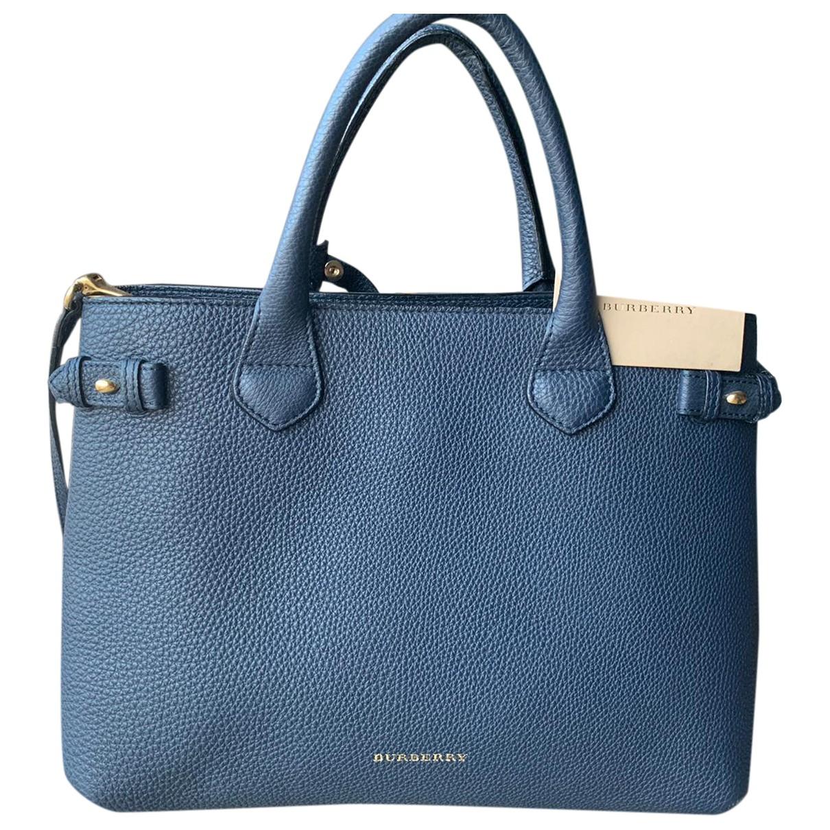 Burberry The Banner  Blue Leather handbag for Women \N