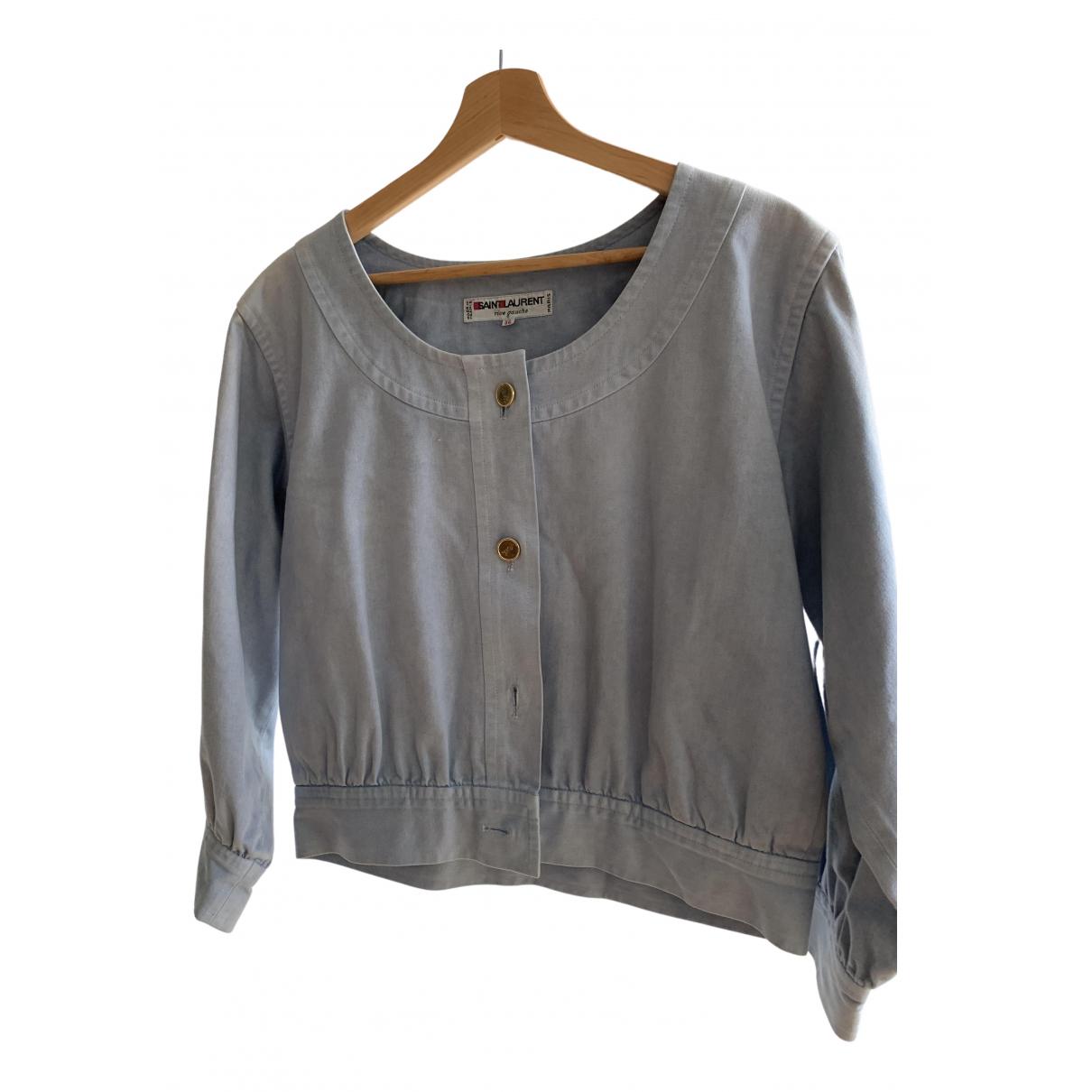 Saint Laurent \N Blue Cotton jacket for Women 42 FR