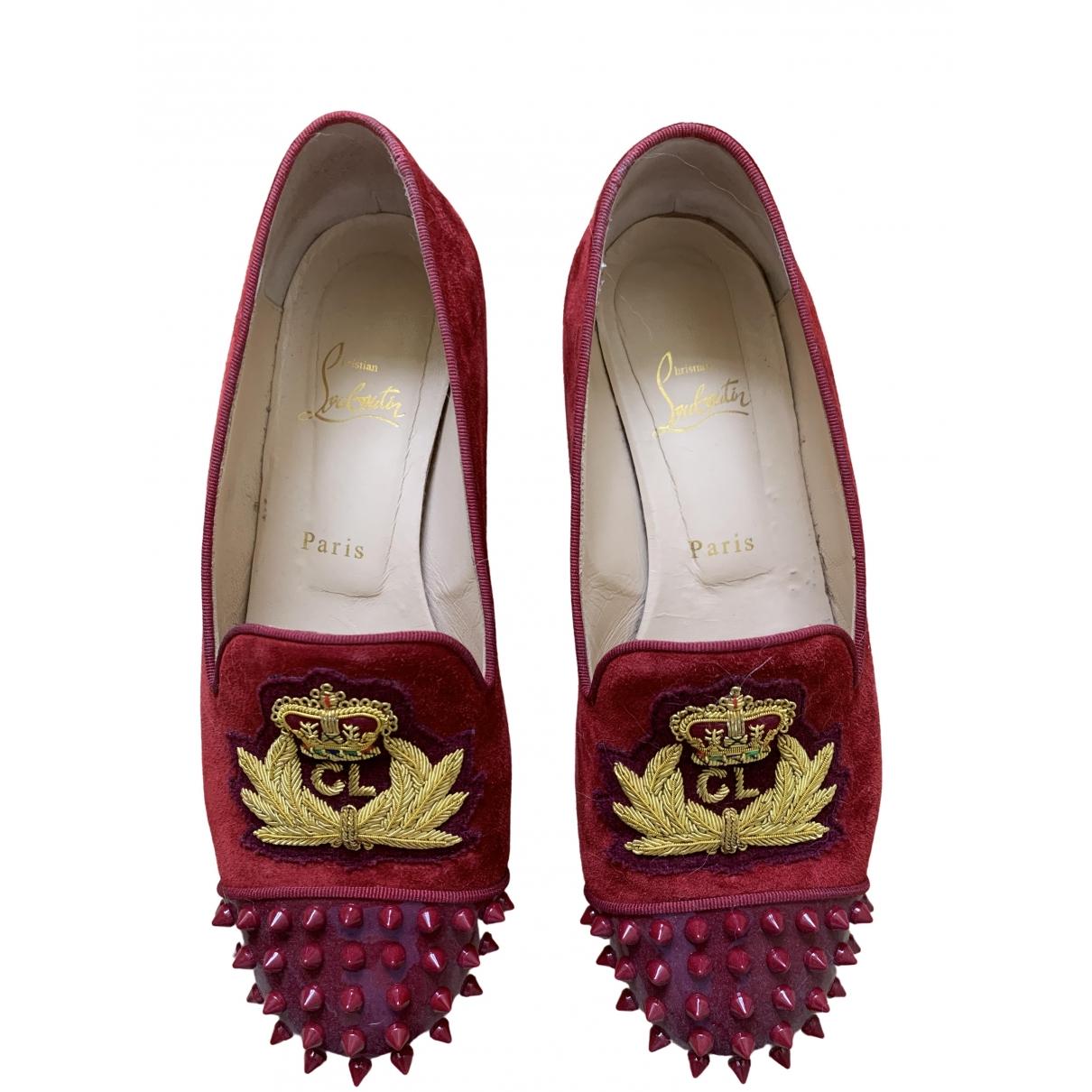 Christian Louboutin \N Red Cloth Flats for Women 39 EU