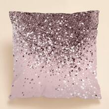 1pc Glitter Gradient Pattern Cushion Cover Without Filler