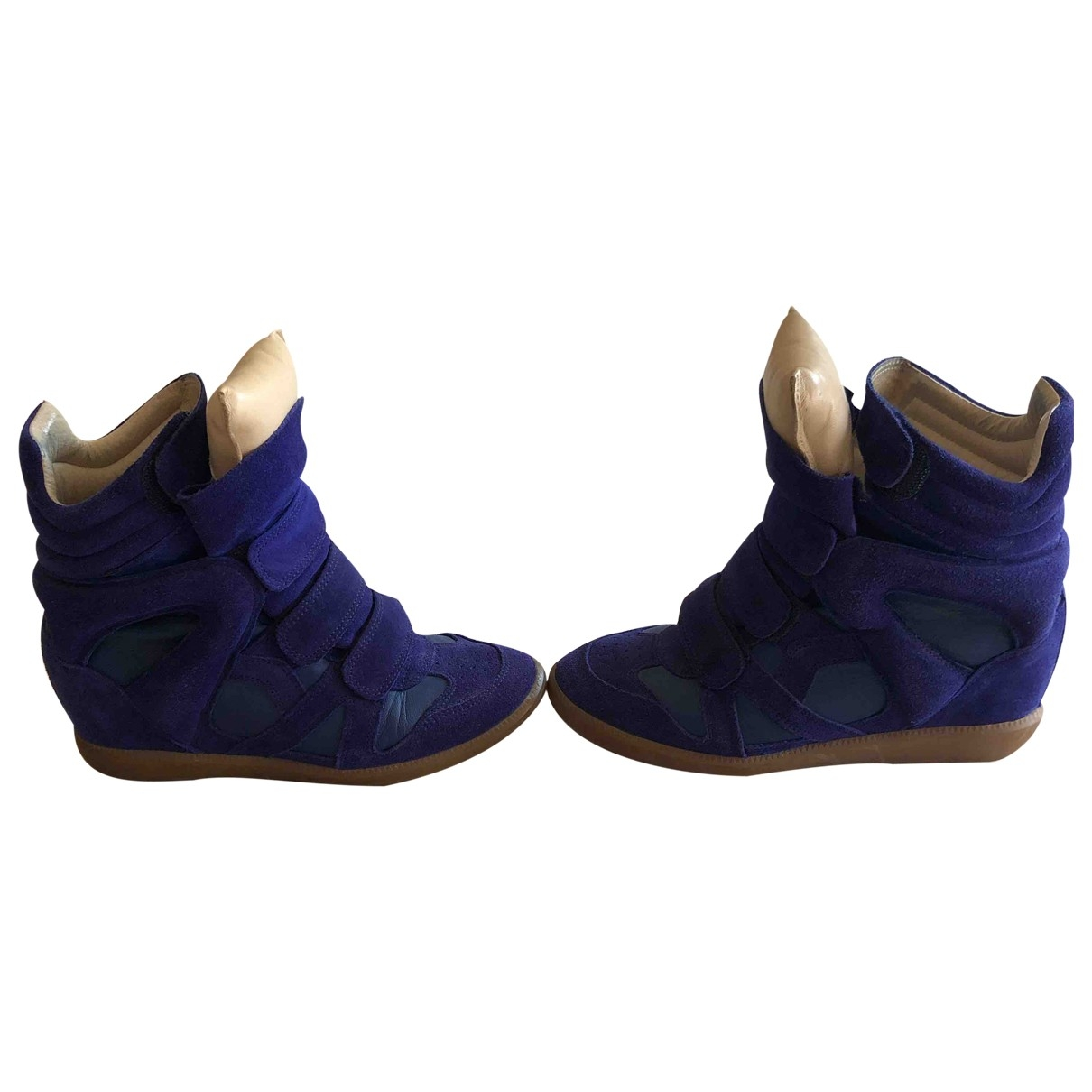 Isabel Marant Beckett Blue Suede Trainers for Women 38 EU