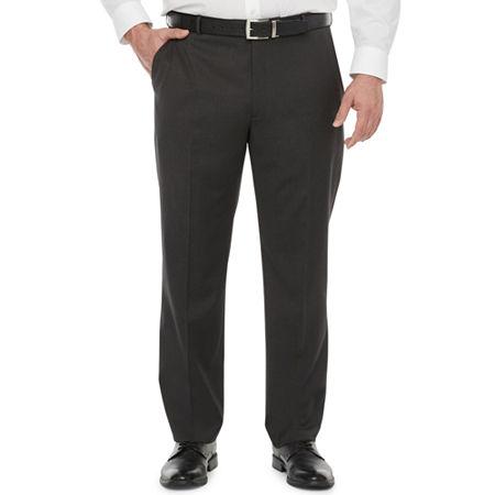 Stafford Super Mens Classic Fit Suit Pants - Big and Tall, 48 34, Black