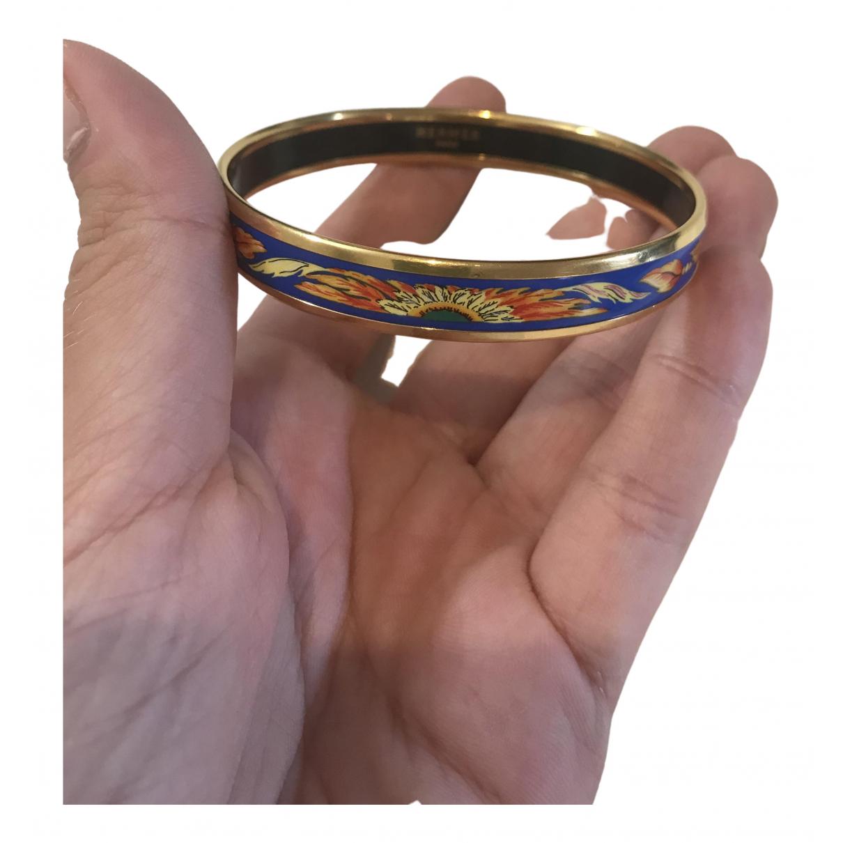 Hermès Bracelet Email Blue Gold plated bracelet for Women \N
