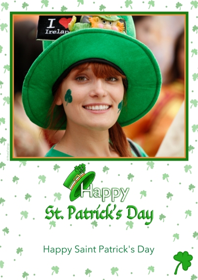 St. Patrick's Day Cards 5x7 Cards, Premium Cardstock 120lb, Card & Stationery -Whimsical Irish Hat