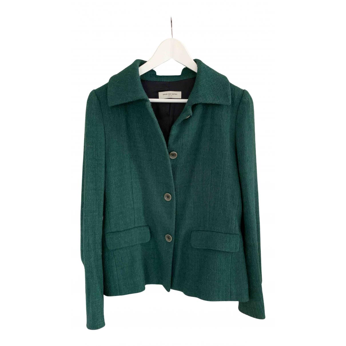 Dries Van Noten \N Green Wool jacket for Women 38 IT