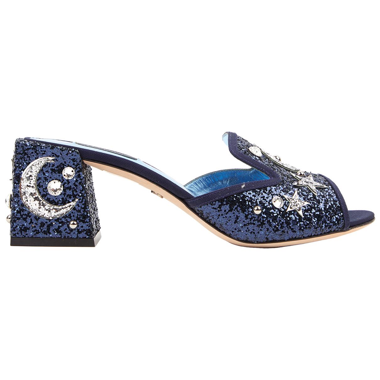 Dolce & Gabbana \N Navy Glitter Sandals for Women 40 IT