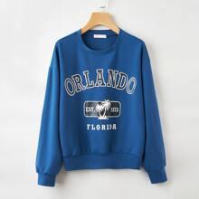 Letter Graphic Sweatshirt