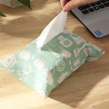 Aufbewahrungstasche fuer Taschentuch mit Geschirr Muster