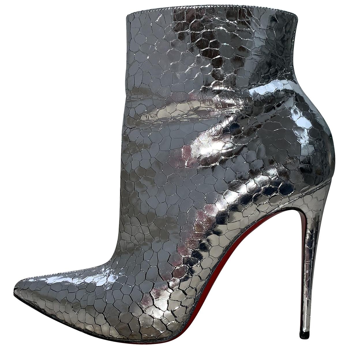 Christian Louboutin - Boots   pour femme en cuir - metallise