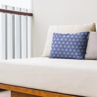 Classic Minimalist Tree Pattern Outdoor Lumbar Pillow (Blue - N/A)