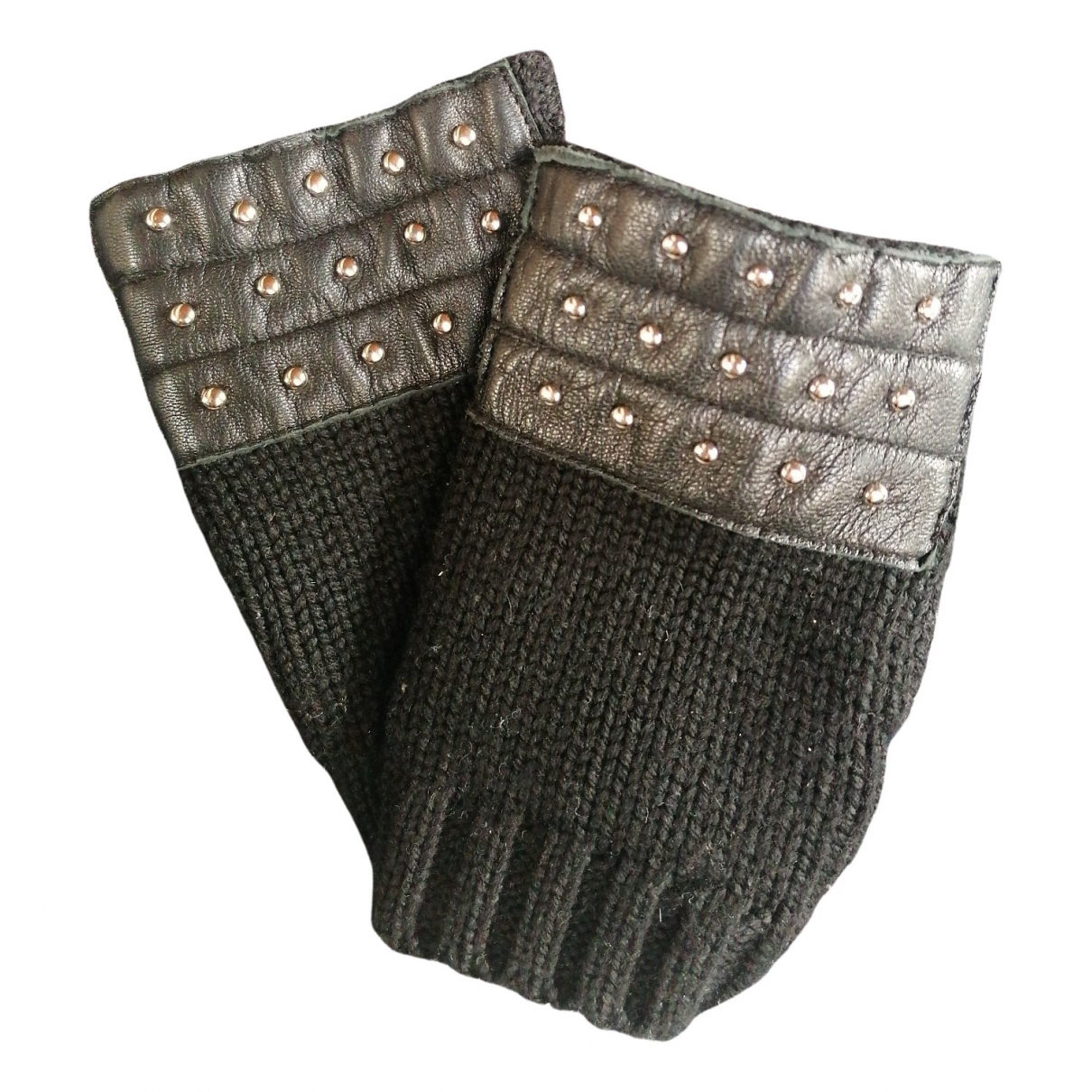 The Kooples \N Handschuhe in  Schwarz Wolle