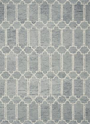 349949 8' X 10' Wool Blue Area