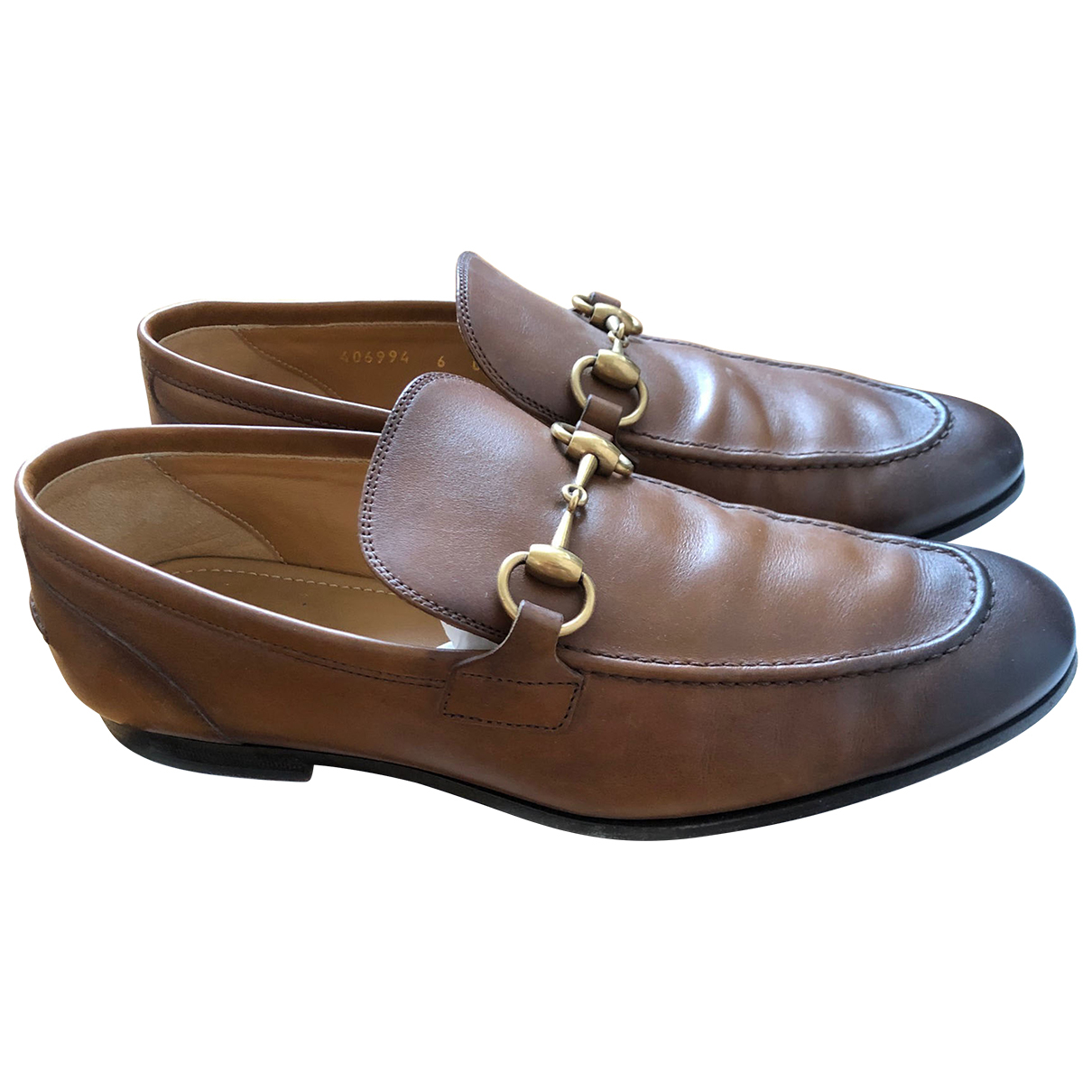 Gucci - Mocassins Jordaan pour homme en cuir - marron