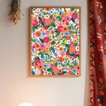 1pc Flower Pattern Wall Print Without Frame