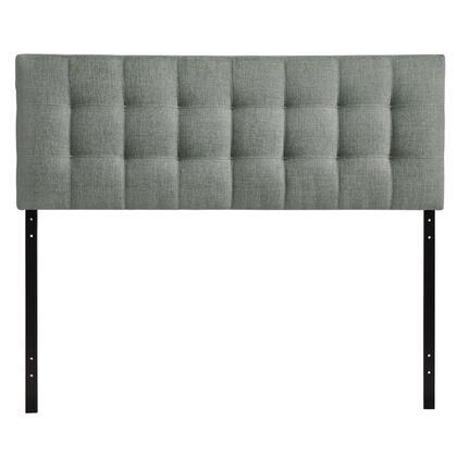 MOD-5144-GRY Lily King Fabric Headboard in Gray