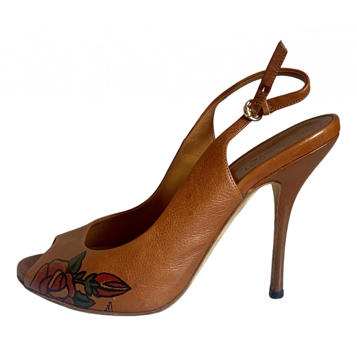 Gucci - Escarpins   pour femme en cuir - camel