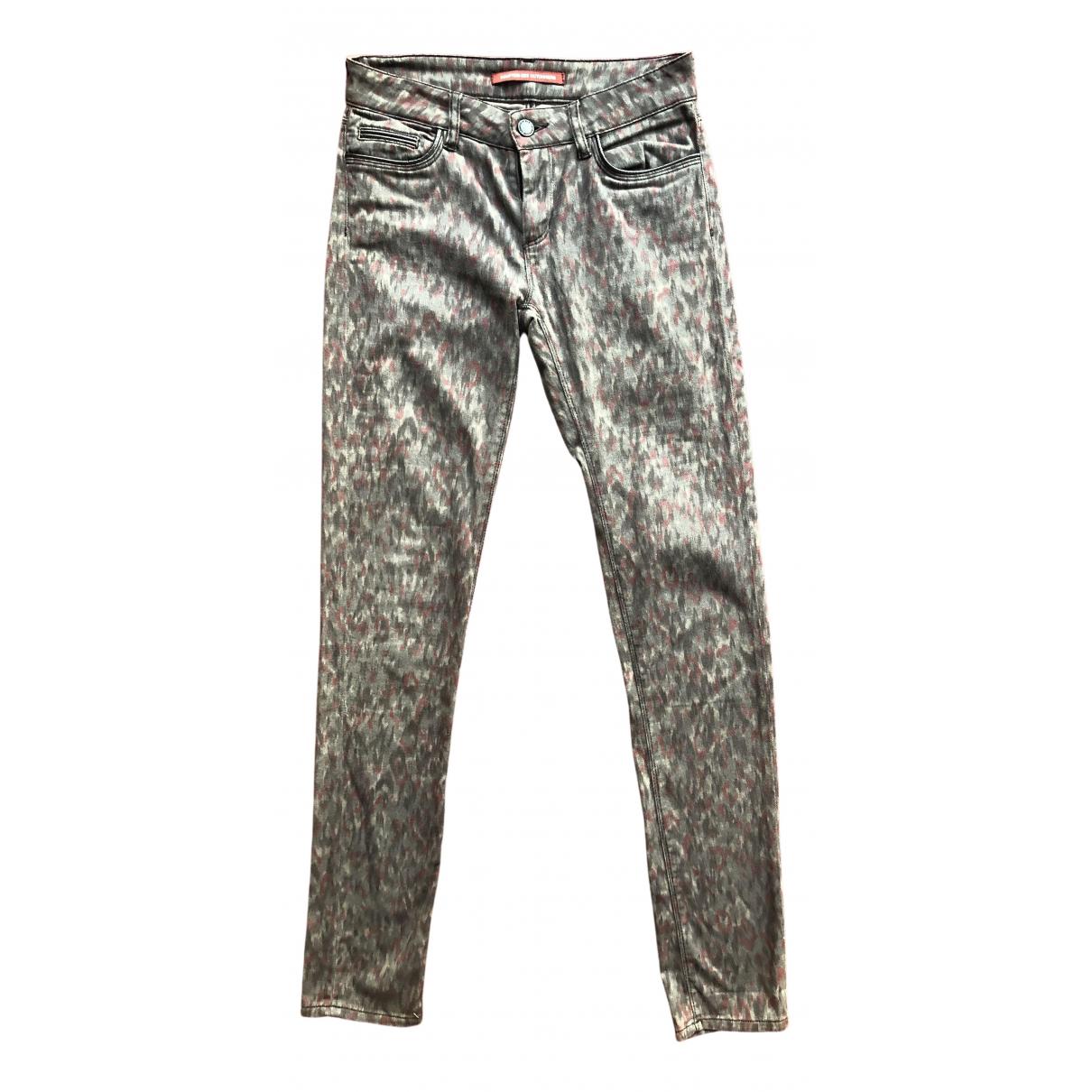 Comptoir Des Cotonniers - Jean   pour femme en coton - elasthane - gris