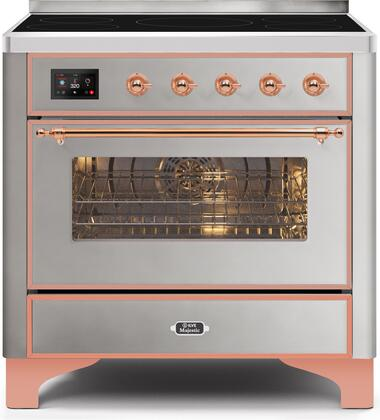 UMI09NS3SSP 36 Majestic II Series Induction Range with 5 Elements  3.5 cu. ft. Oven Capacity  TFT Oven Control Display  Copper Trim  in Stainless