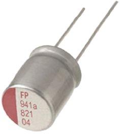 Nichicon 820μF Polymer Capacitor 4V dc, Through Hole - RNS0G821MDN1PH (10)