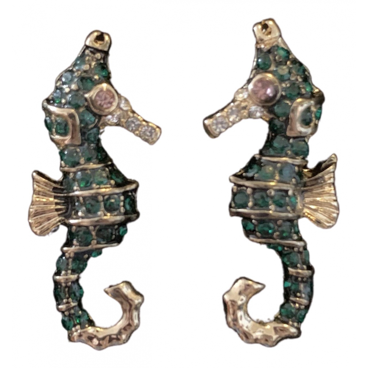 Non Signé / Unsigned Motifs Animaliers Multicolour Metal Earrings for Women \N