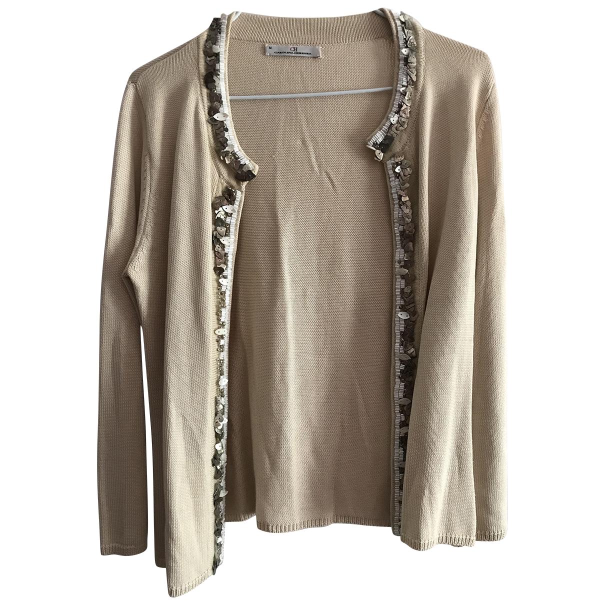 Carolina Herrera \N Pullover in  Beige Wolle