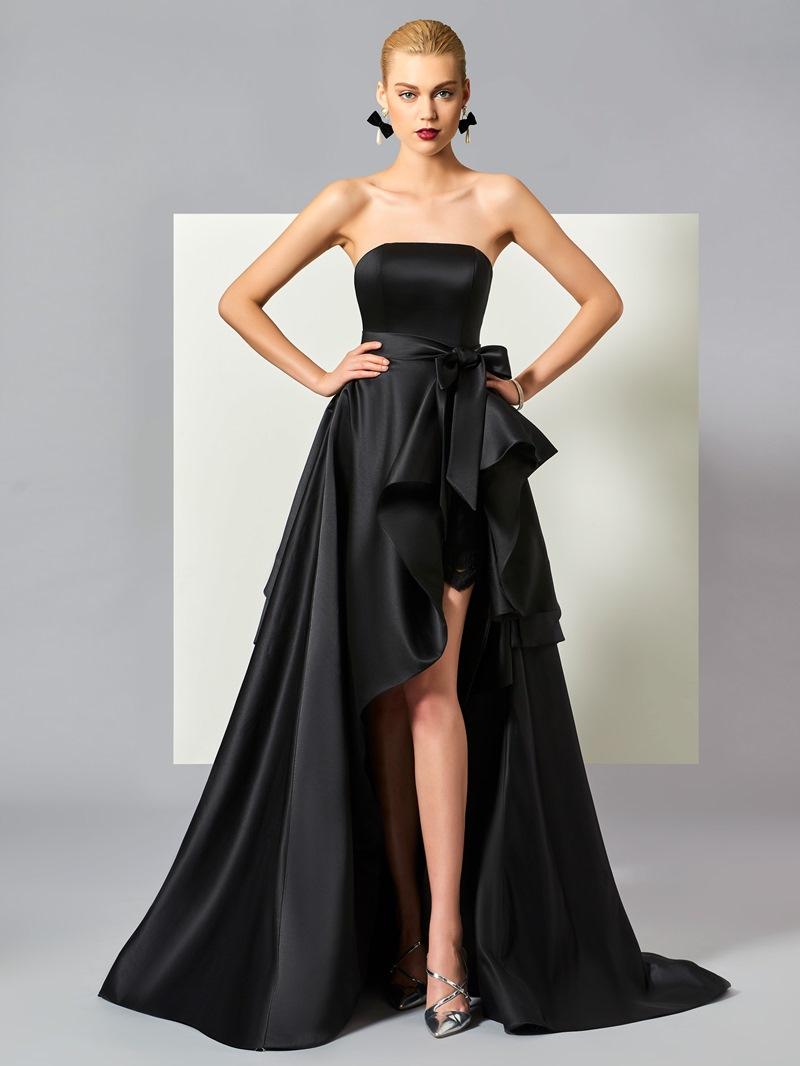 Ericdress Stylish A Line High Low Asymmetry Evening Dress