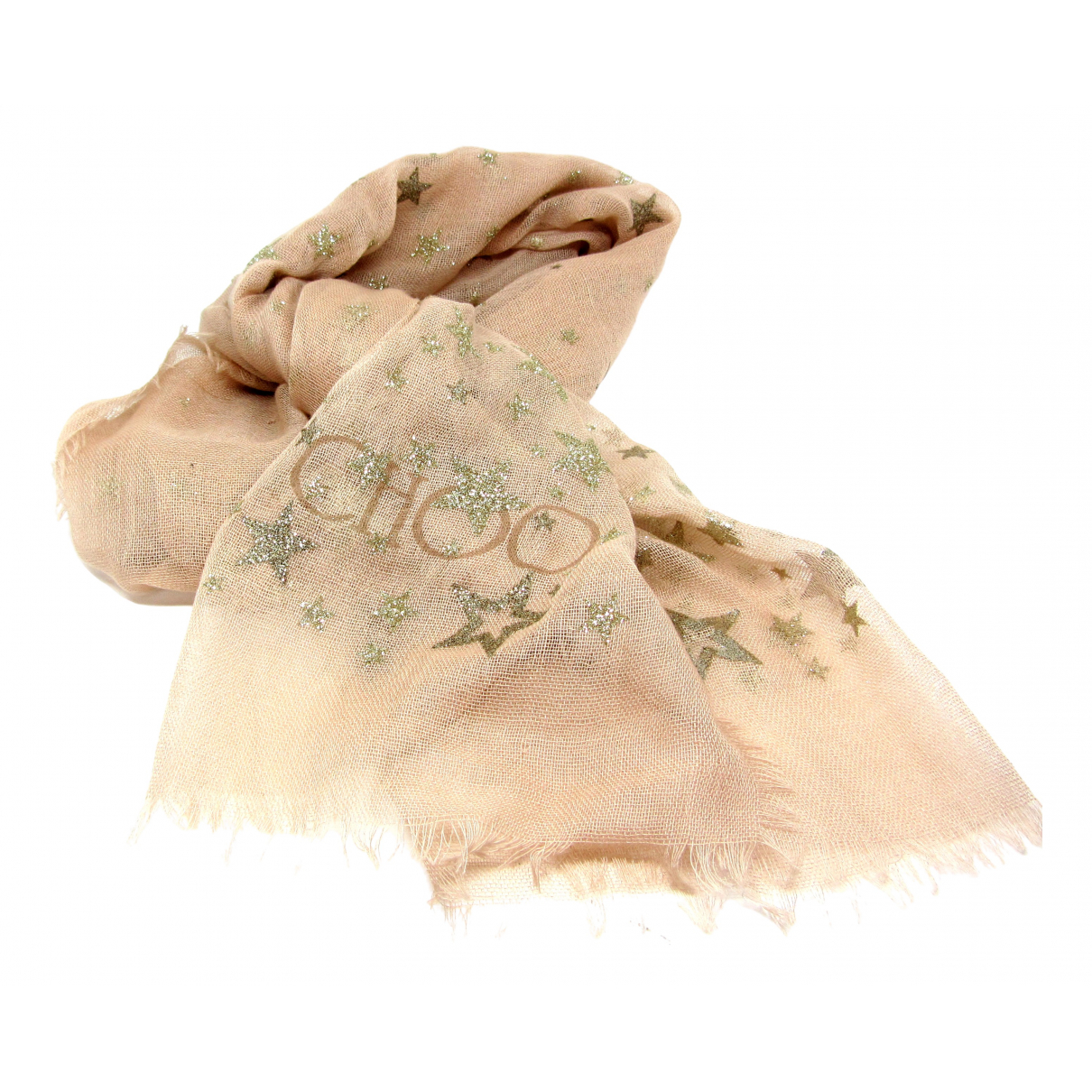 Jimmy Choo - Foulard   pour femme en laine - rose
