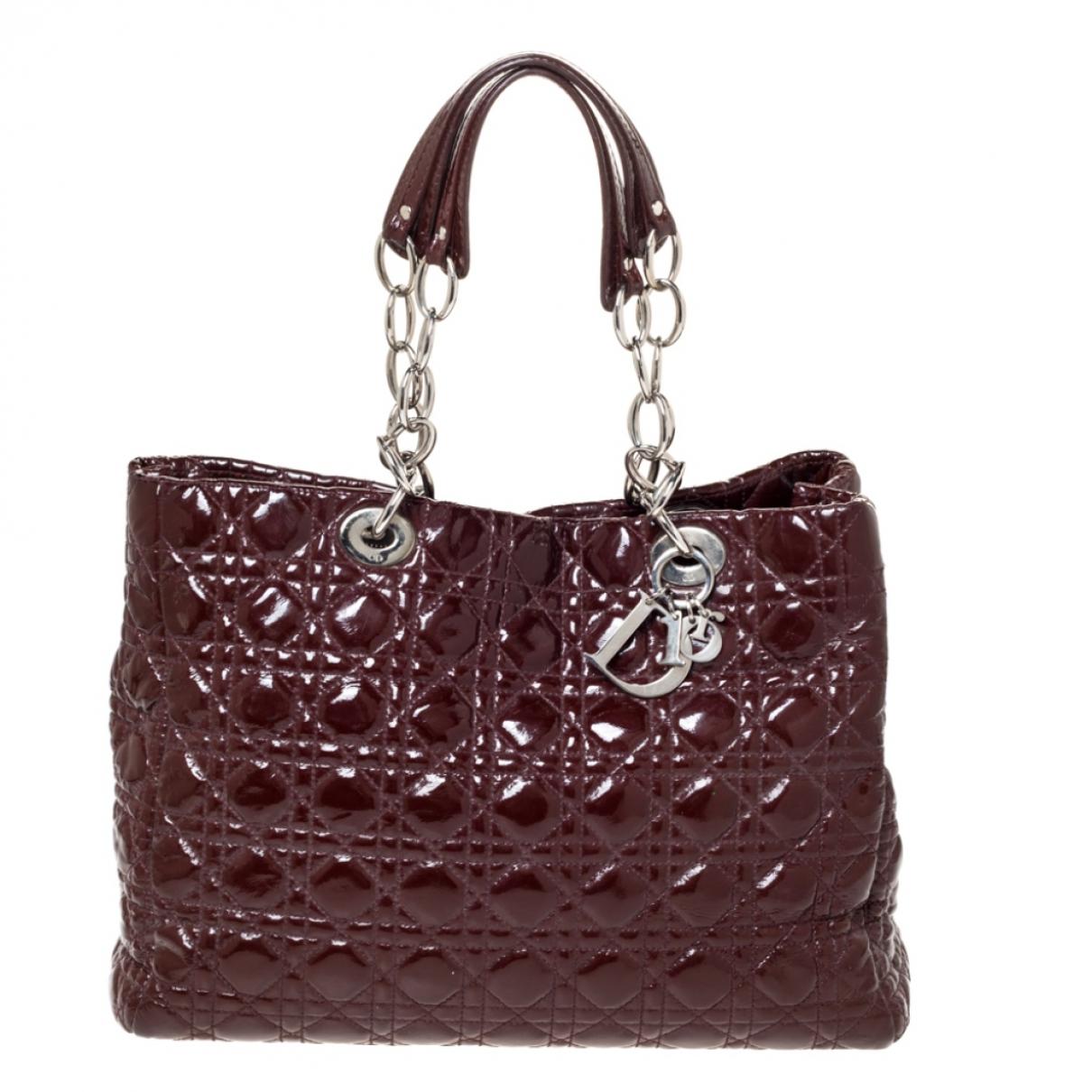 Dior N Burgundy Patent leather handbag for Women N