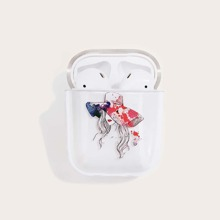 1pc Girl Pattern AirPods Case