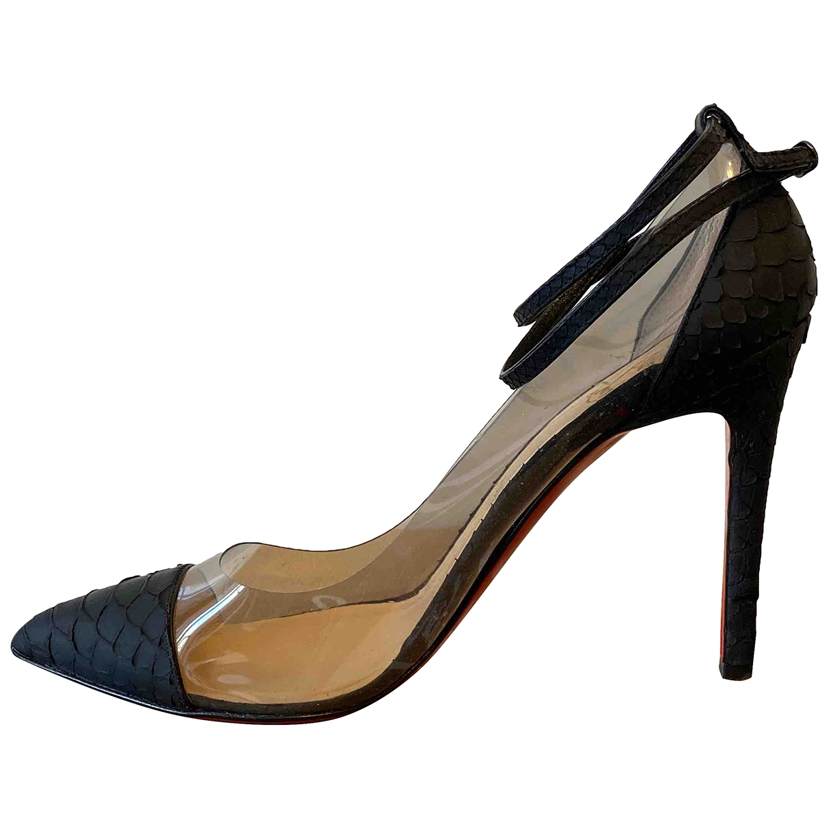 Christian Louboutin \N Black Python Heels for Women 40 EU