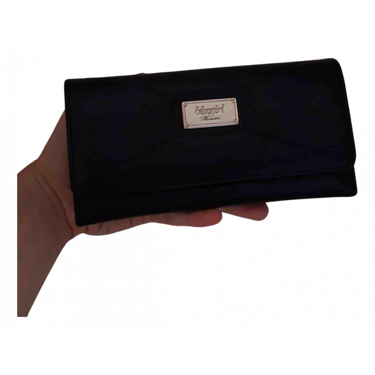 Blumarine \N Portemonnaie in  Schwarz Leder