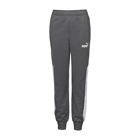 Puma Little & Big Boys Mid Rise Straight Jogger Pant, 5 , Gray