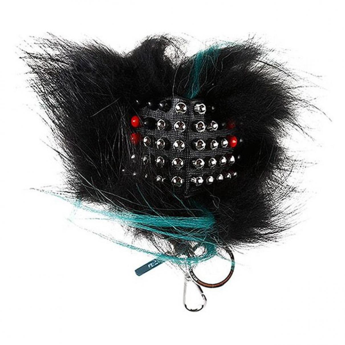 Fendi - Bijoux de sac Bag Bug pour femme en fourrure - noir