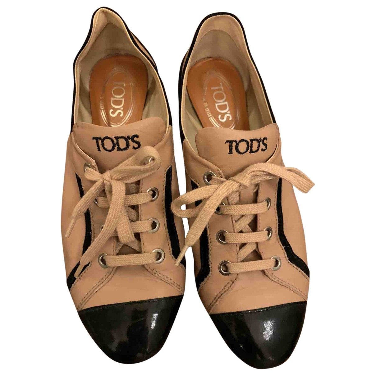 Tod's \N Pink Leather Lace ups for Women 38.5 EU
