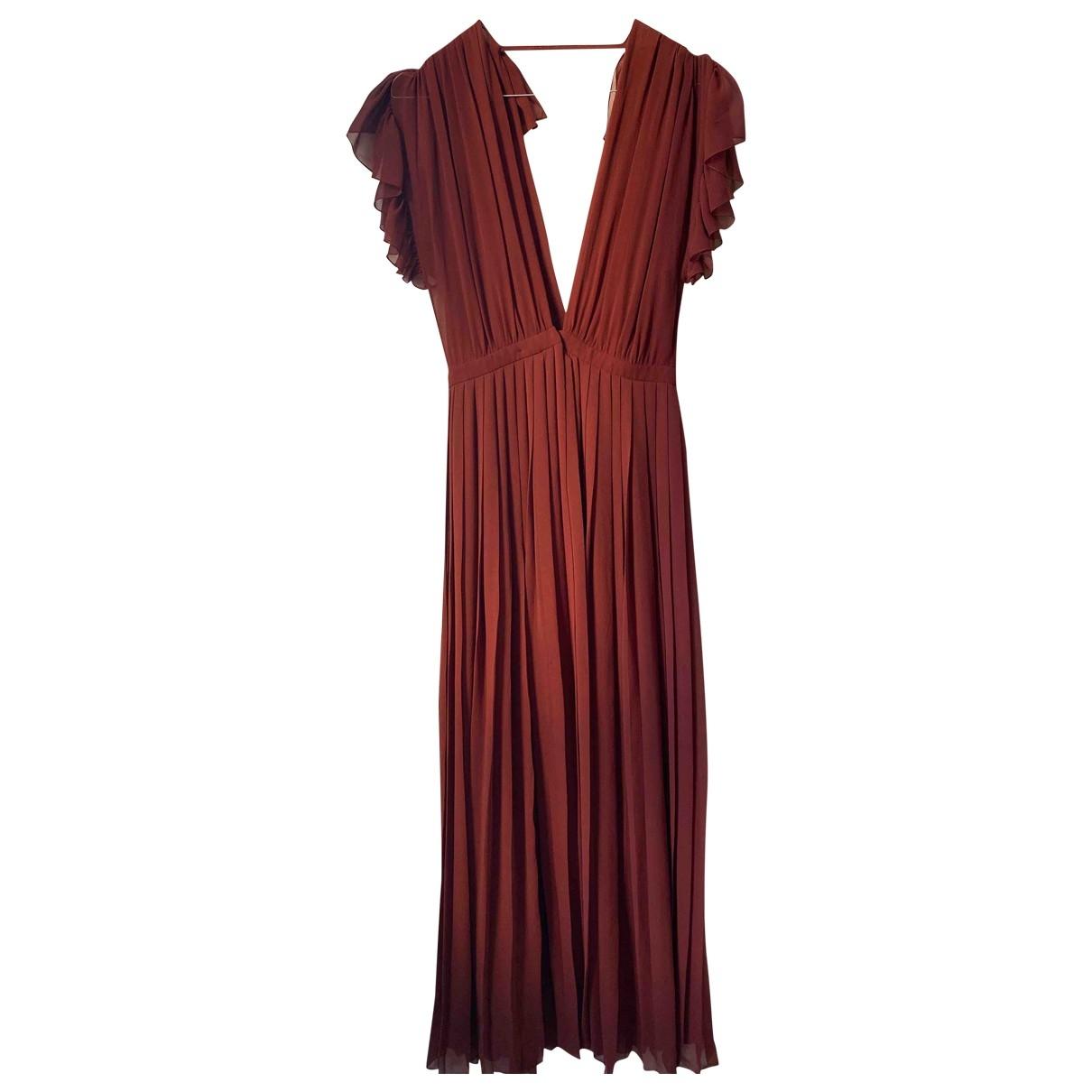 Gucci - Robe   pour femme en soie - bordeaux
