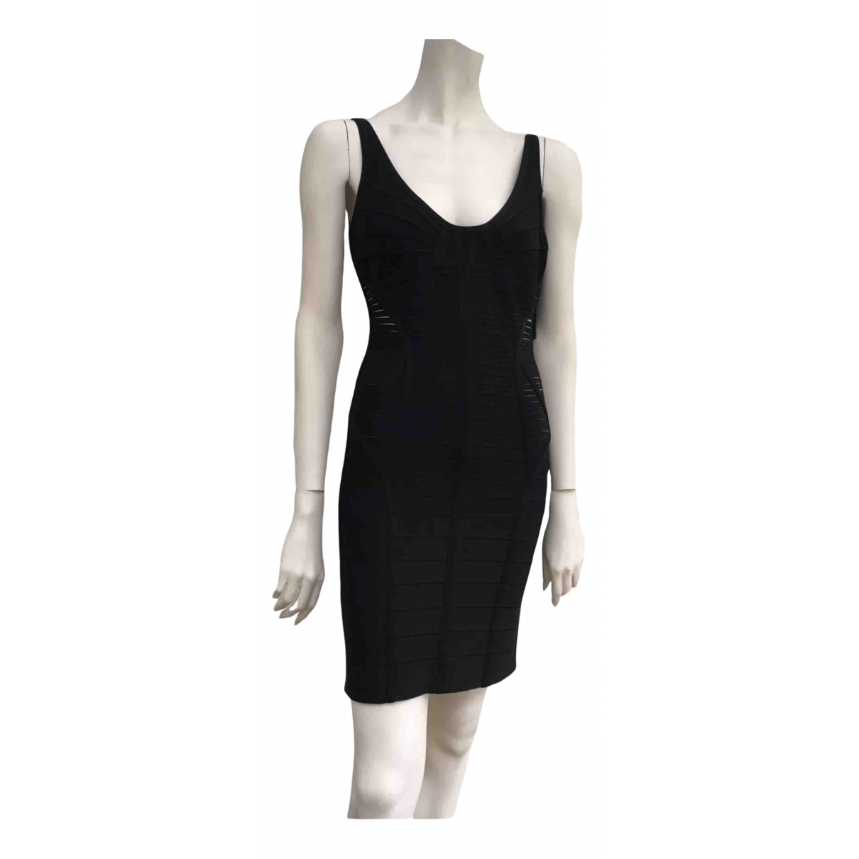 Herve Leger \N Kleid in  Schwarz Synthetik
