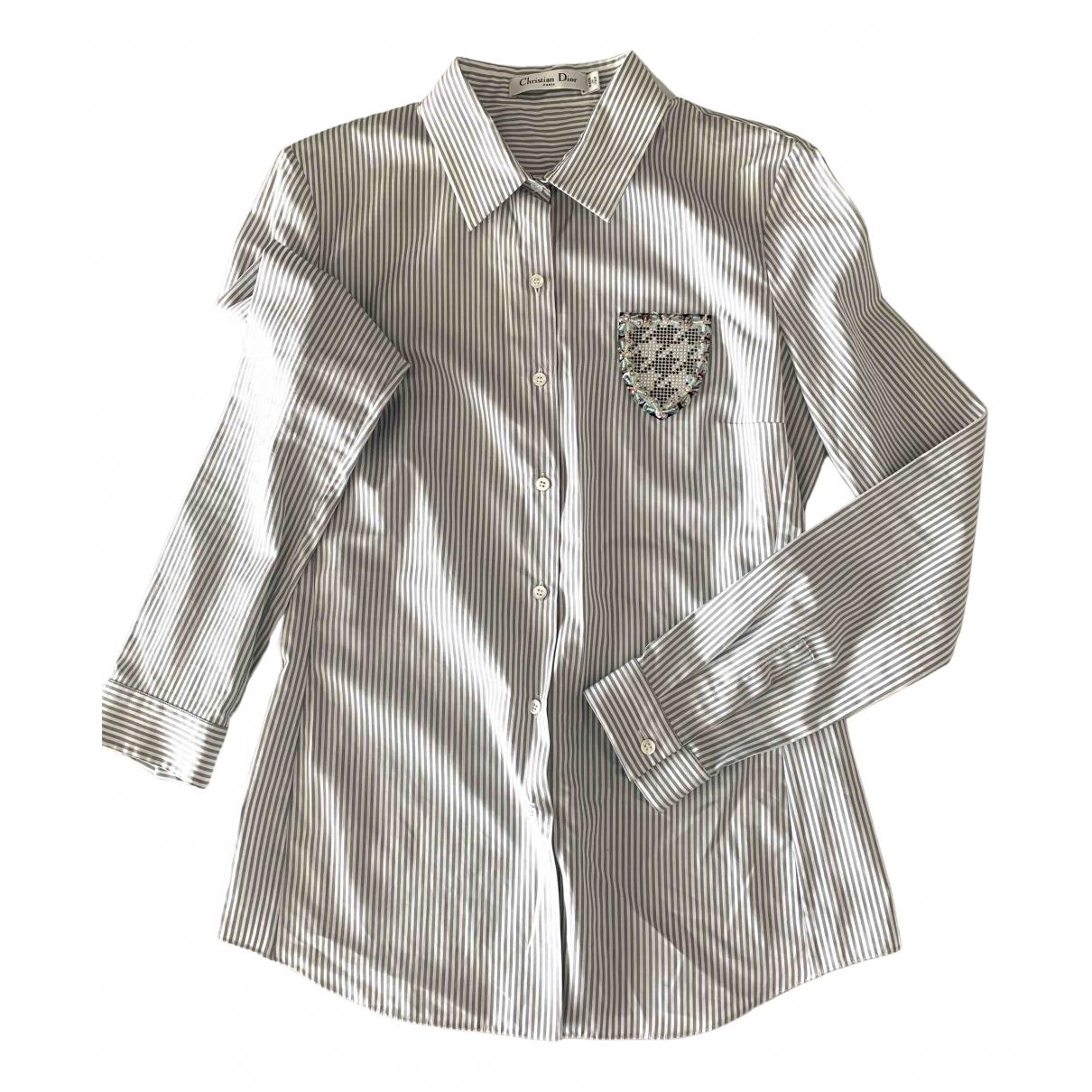 Dior - Top   pour femme en coton - blanc