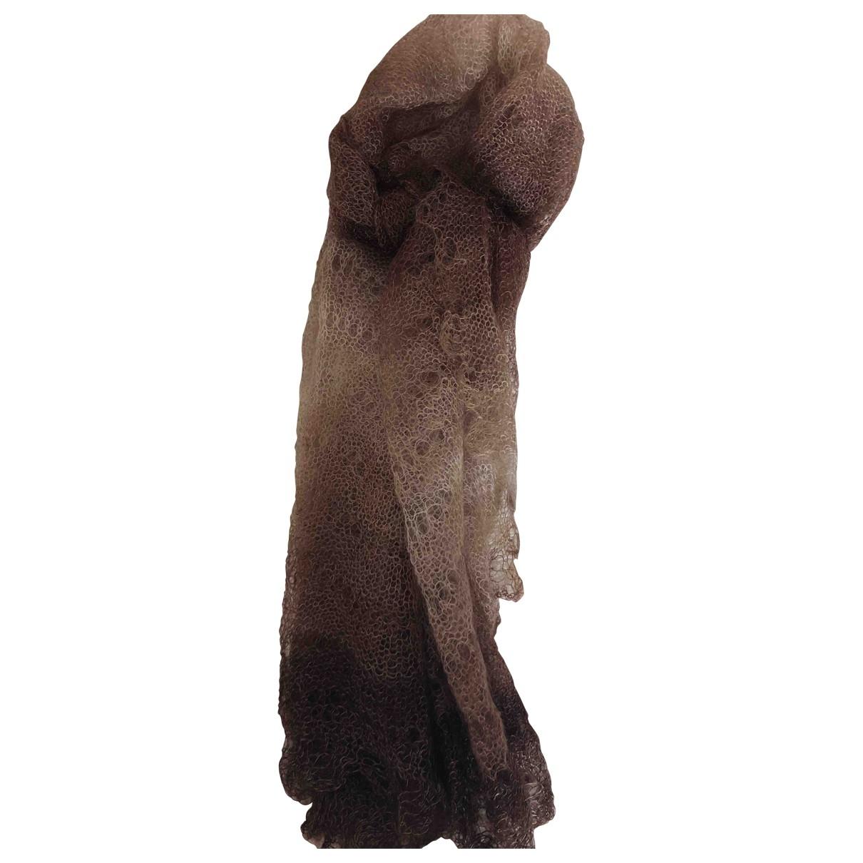 - Foulard   pour femme en laine - marron