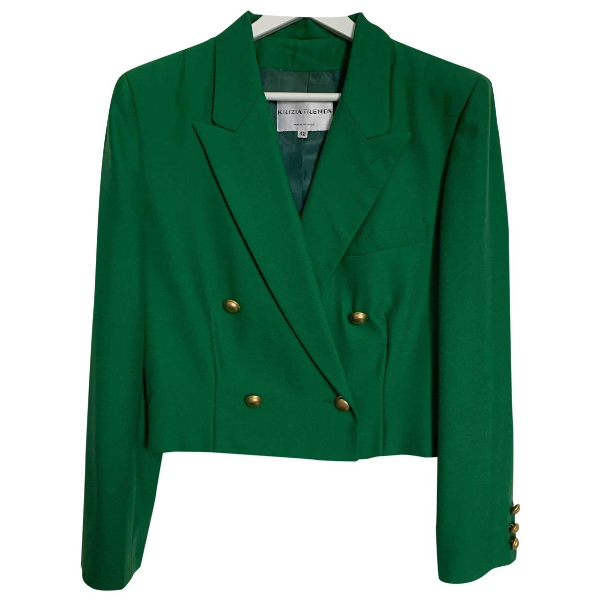 Krizia - Veste   pour femme en laine - vert