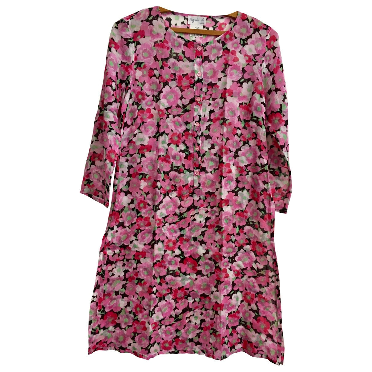 Agnès B. \N Pink Cotton dress for Women 40 FR