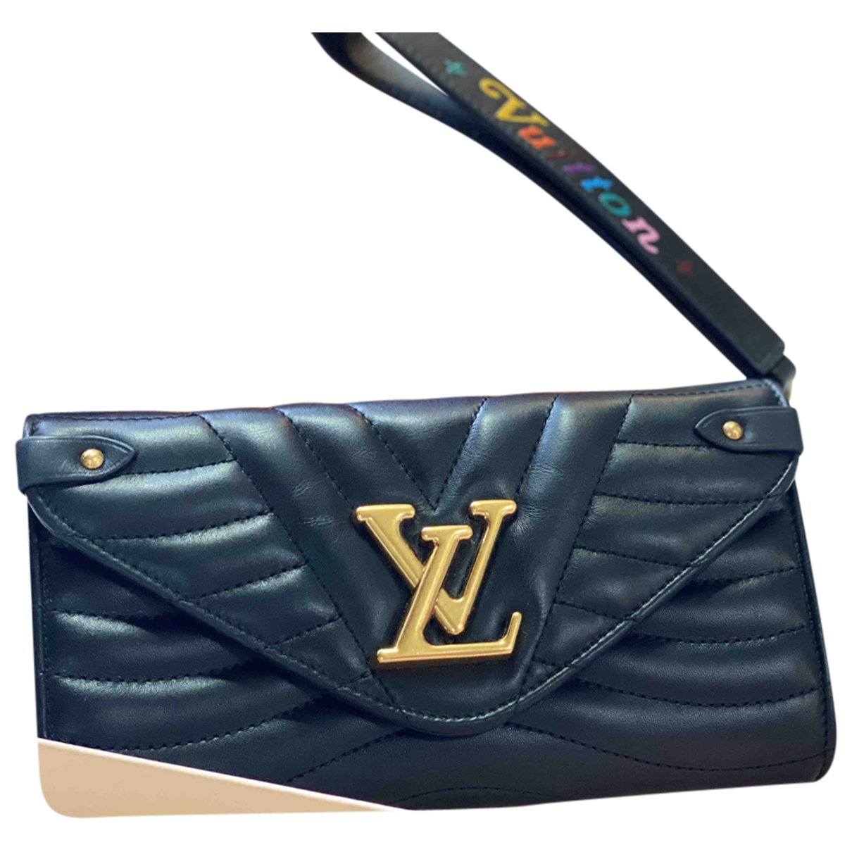 Louis Vuitton NewWave Black Leather wallet for Women N