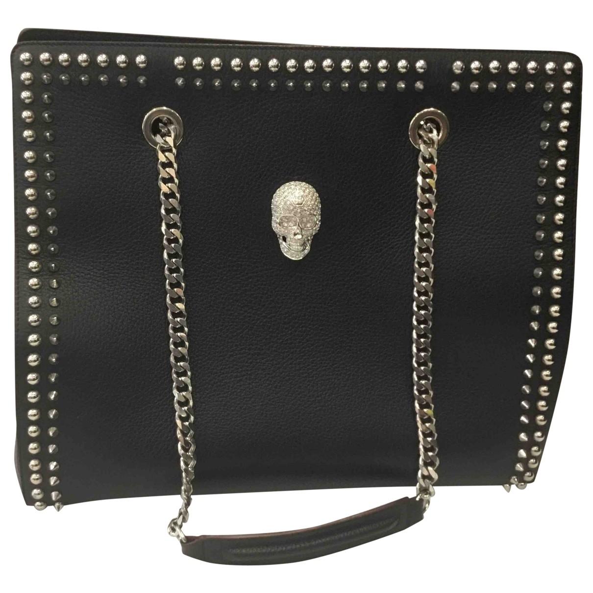 Philipp Plein \N Handtasche in  Schwarz Leder