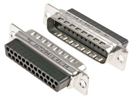 TE Connectivity , AMPLIMITE HDP-20 Straight Crimp D-sub Connector, Plug, 25 Pin (5)