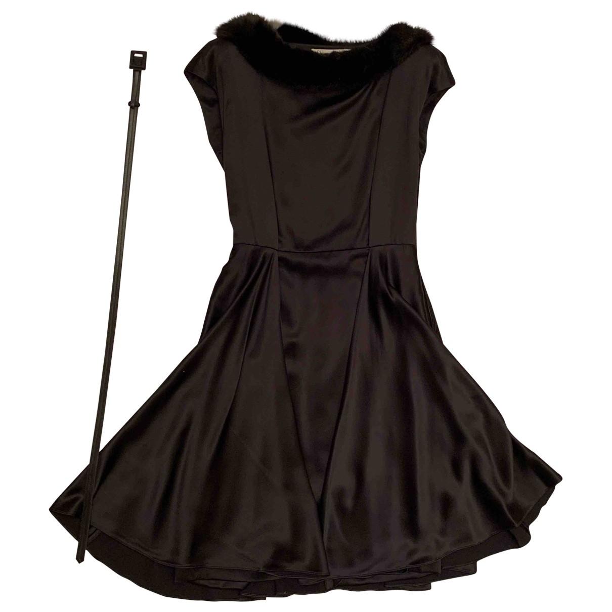 Dior \N Kleid in  Schwarz Fell