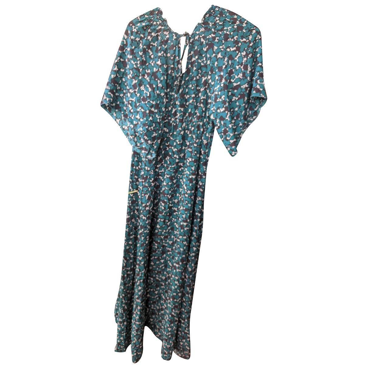 Bel Air \N Kleid in  Blau Seide